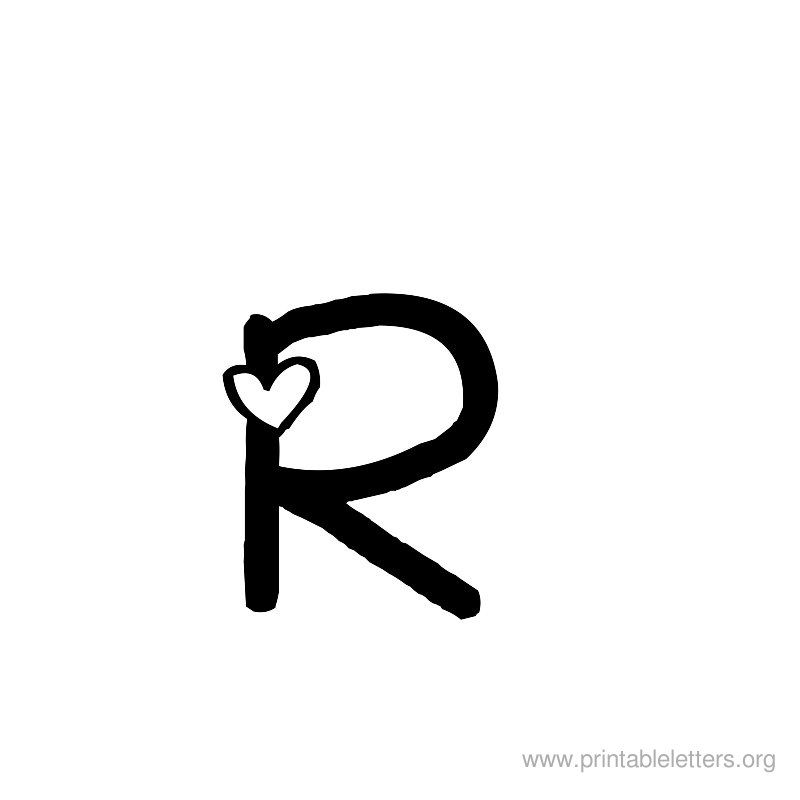Letter R For Kids Printable Letters Org Letter R Tattoo Tattoo Lettering R Tattoo