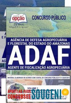 Apostila Concurso Adaf Agente De Fiscalizacao Agropecuaria