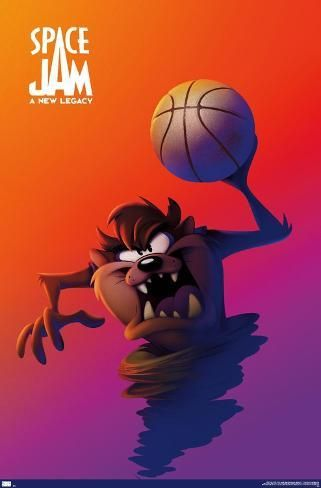 Poster: Space Jam: A New Legacy - Tasmanian Devil One Sheet, 34x22in.