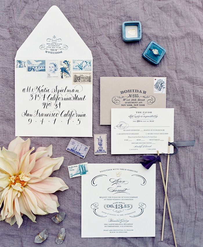 Rustic Vintage Wedding Invitations | Wedding Invite Vintage ...
