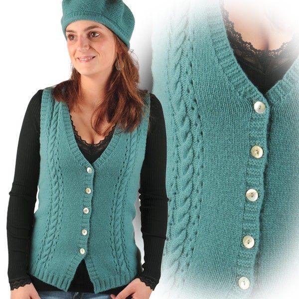 tricot gilet sans manche femme modele