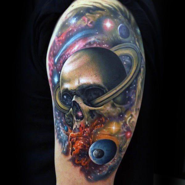 3af874c90 90 Astronomy Tattoos For Men - Masculine Design Ideas | universe ...