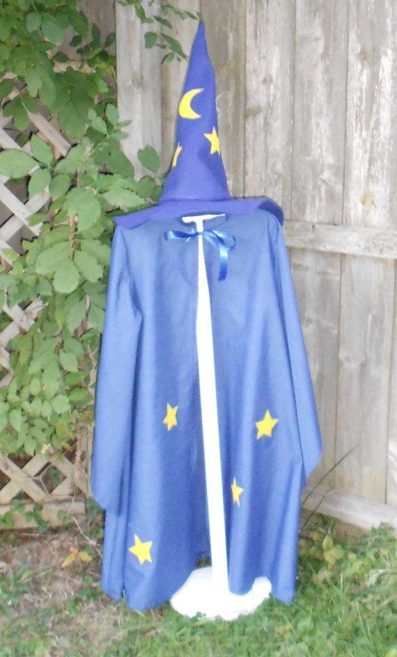 children s wizard costume wizard cloak and hat blue wizards