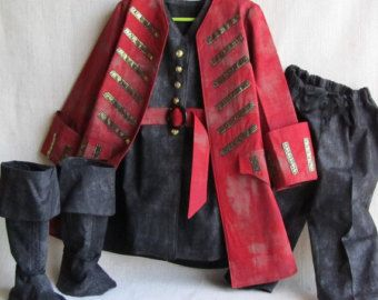15% Off Sale: Child's Pirate Coat/Jacket ONLY, Fully Lined, Size 5 to 7, Ready To Ship