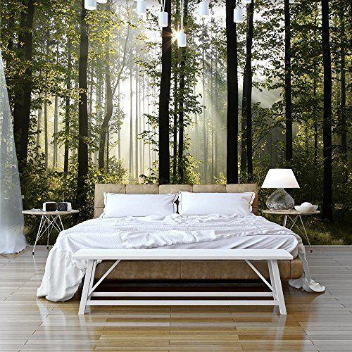 Fototapete Wald 352 x 250 cm - Vliestapete - Wandtapete - Vlies - wandbilder für die küche