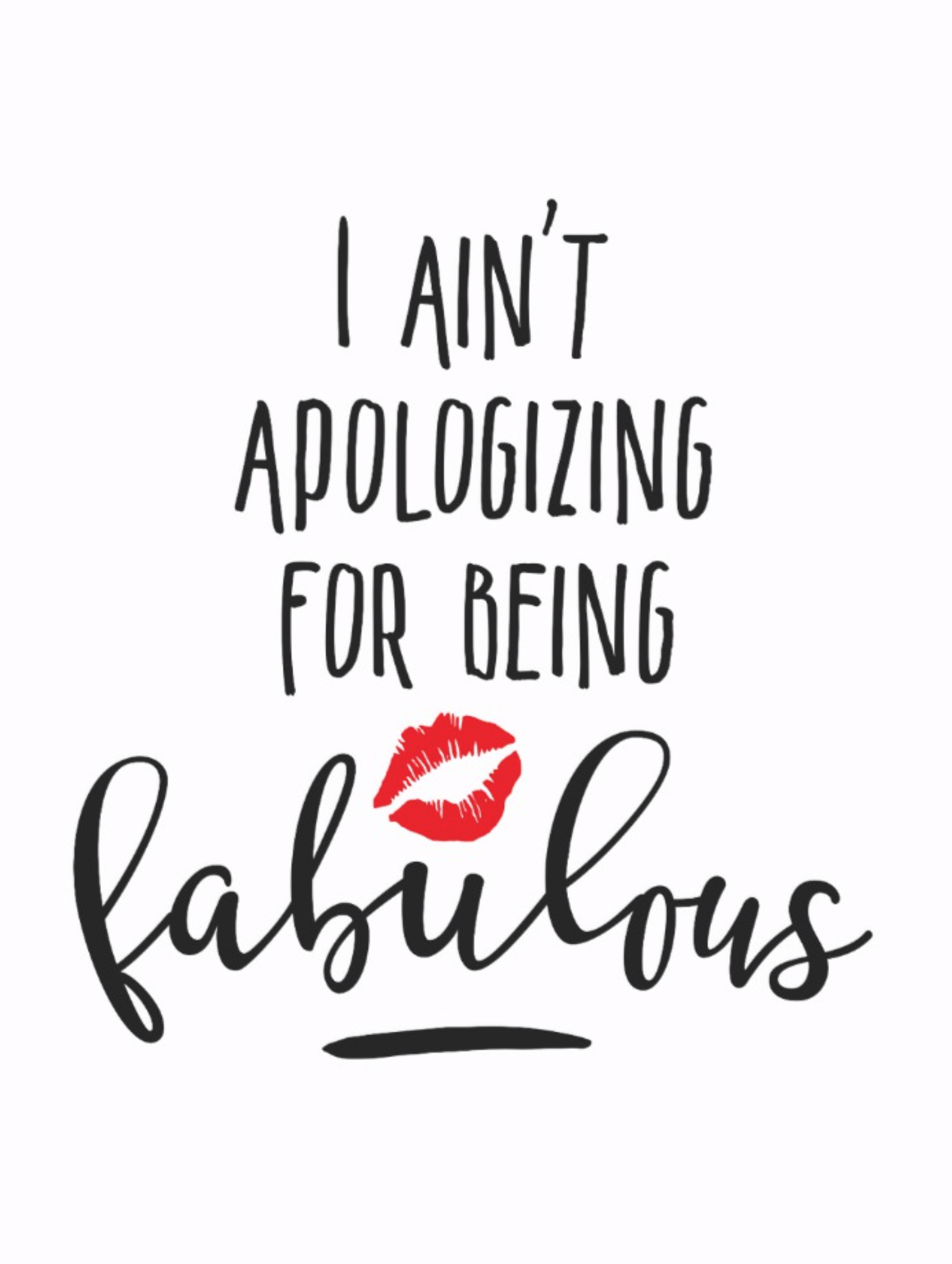 Fabulous Girly Lipstick Quote Postcard