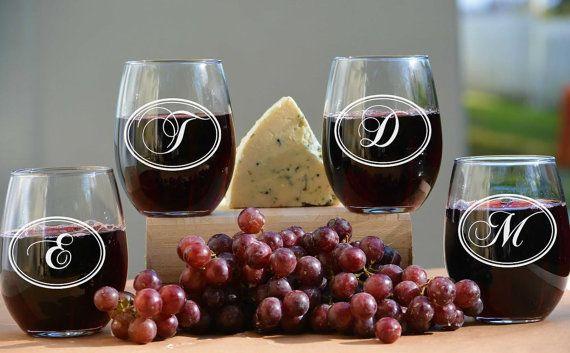 Modern Wedding Personalized Wine Gles Custom By Urbanlofttampa