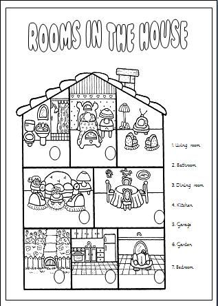 Rooms In The House Elementary Worksheet English Lessons For Kids English Worksheets For Kids Elementary Worksheets