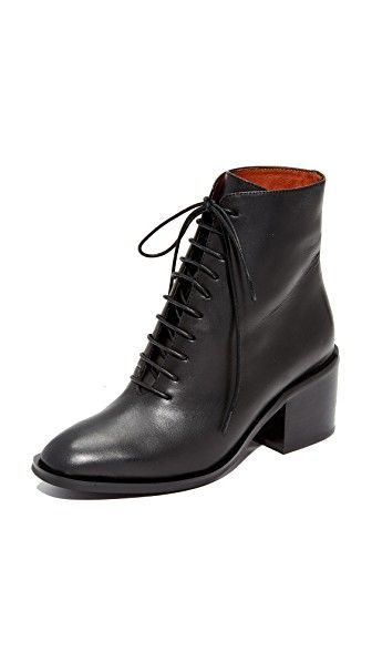 144bce3a682b JEFFREY CAMPBELL Talcott Stacked Heel Lace-Up Booties.  jeffreycampbell   shoes  boots