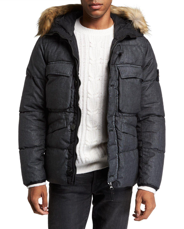 Stone Island Men S Down Puffer Coat With Faux Fur Trim Stoneisland Cloth Down Puffer Coat Puffer Coat Long Puffer Coat [ 1500 x 1200 Pixel ]