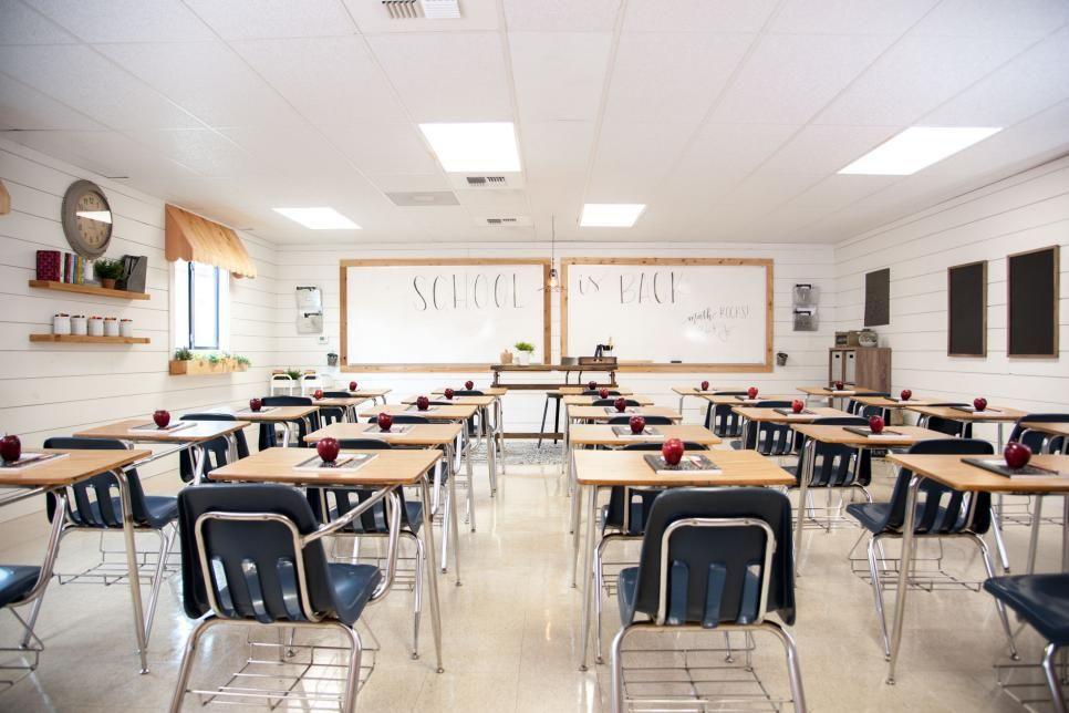 Modern Classroom Decor ~ Fixer upper style classroom makeover by magnolia market