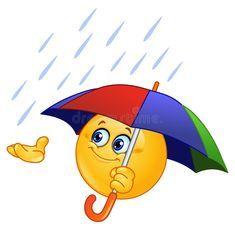 Download Emoticon con el paraguas ilustración del vector. Imagen de abierto - 20867703