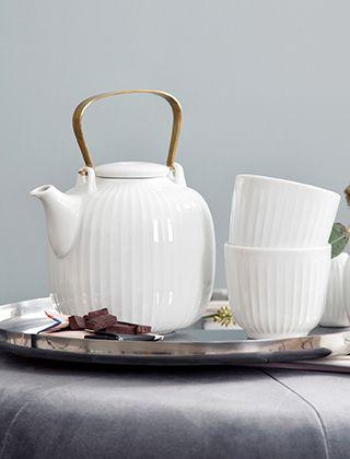 Design Teekanne hammershøi teekanne in weiß kähler design tea and snuff