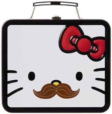 Hello Kitty Mustache Lunchbox School Food Storage New Fast Shipping  Sh