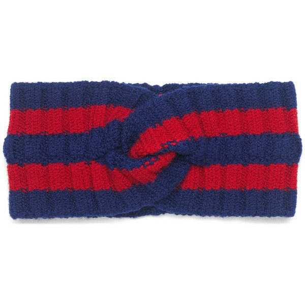 14d589e0bd7 Gucci Wool Web Headband (4.670.675 VND) ❤ liked on Polyvore featuring  accessories