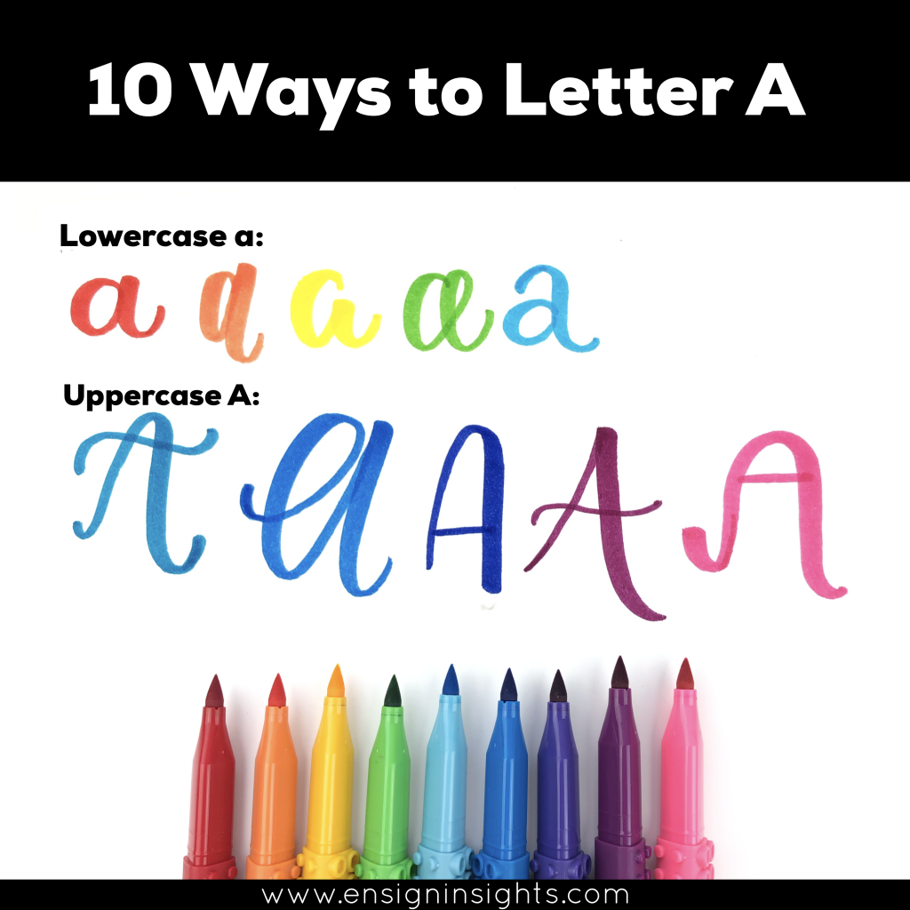 How To Hand Letter A In 10 Ways Lettering Worksheet