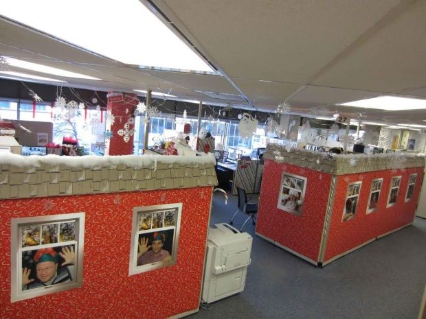 Winners Announced For 39 Decorate Your Cubicle 39 Competition Patsy Pinterest Santas Workshop
