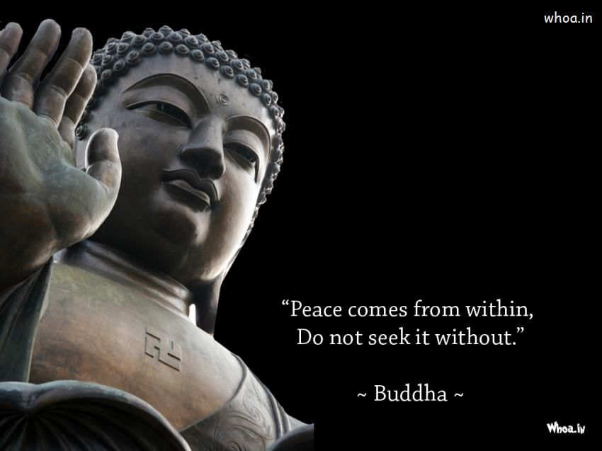 Lord Buddha Statue And Quote With Dark Background Wallpaper Stunning Statue Quotes