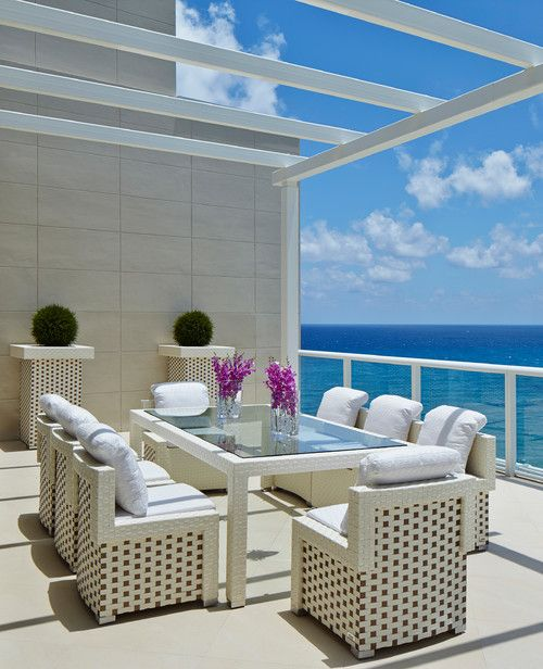 Studio K Architects, Boca Raton, FL.   Outdoor living ... on Living Spaces Outdoor Dining id=61428