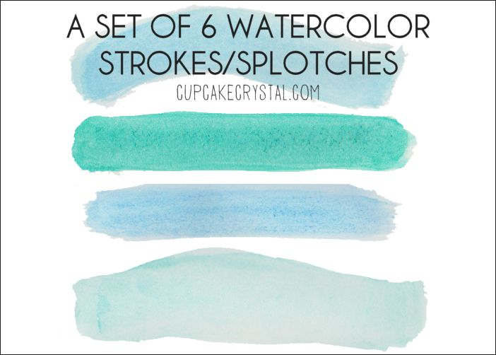 Colorful Vector Elements Brush Effect Gorgeous Watercolor Vector