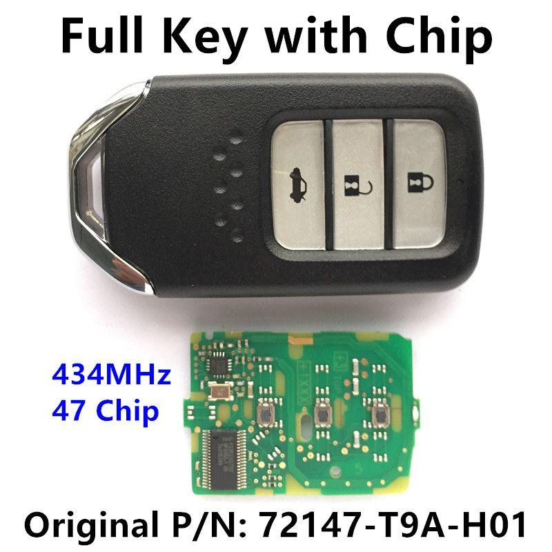 Smart Key For Honda City Civic Jazz Fit Accord Crv Car Remote Auto Key 72147 T9a H01 Honda City Smart Key Auto