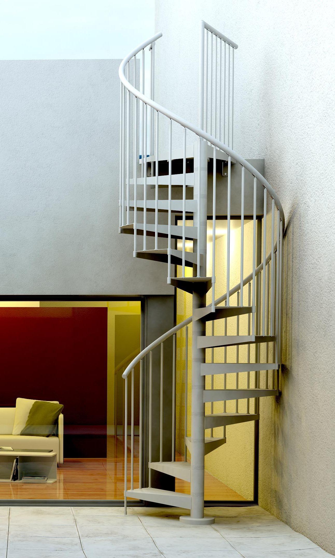 Escalera met lica de caracol para exterior para subir a - Escaleras de hierro para exterior ...