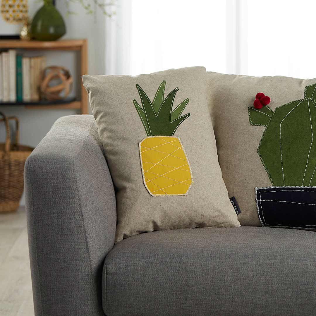 Pineapple on linen cushionSimons simonsmaison home hometherapy ...