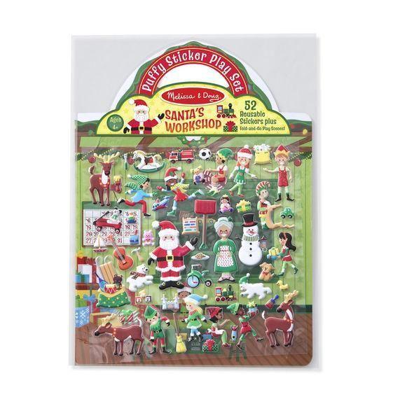 Melissa & Doug   Puffy Stickers   Santa's Workshop