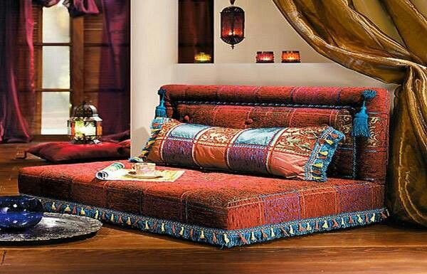 Moroccan Sofa, Great For Guest Room When Grandbabies Are Too Big For Cribs  But Too Little For High Beds!