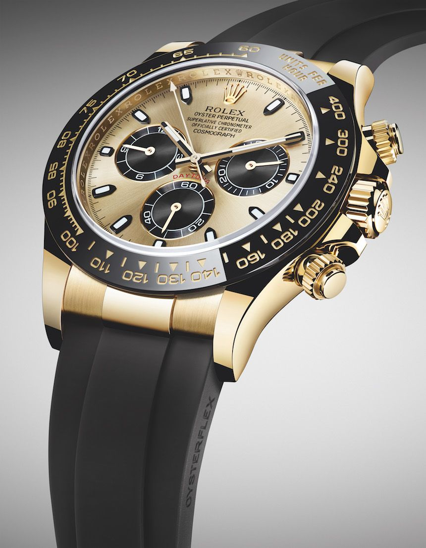 7da70315bf8 New ROLEX Cosmograph Daytona Watches In Gold With Oysterflex Rubber Strap &  Ceramic Bezel For 2017. Discover the new models and look out for all Rolex  ...