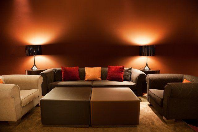 éclairage salon design intérieur moderne déco salon canapé