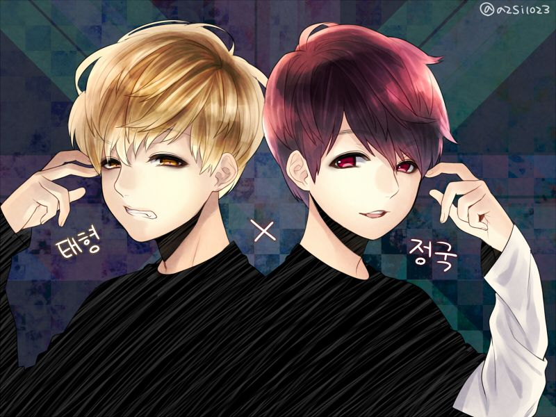 V Jungkook Bts Chibi Anime Boys Bangtan Boy