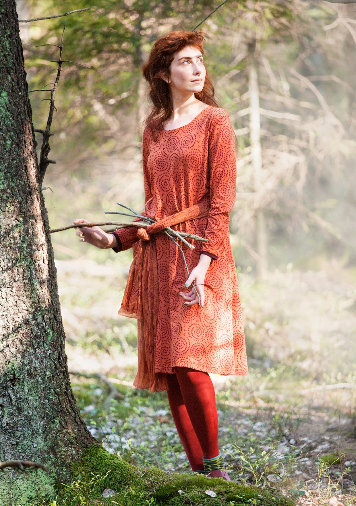 """2e3c40f9d048 """"Vilse"""" dress in cotton/modal – Lost in the ancient forest – GUDRUN SJÖDÉN  – Webshop, mail order and boutiques 