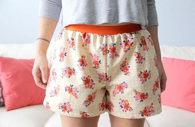 Easy Women\'s Boxer Shorts DIY, Free Pattern | Nähen, Shorts und ...