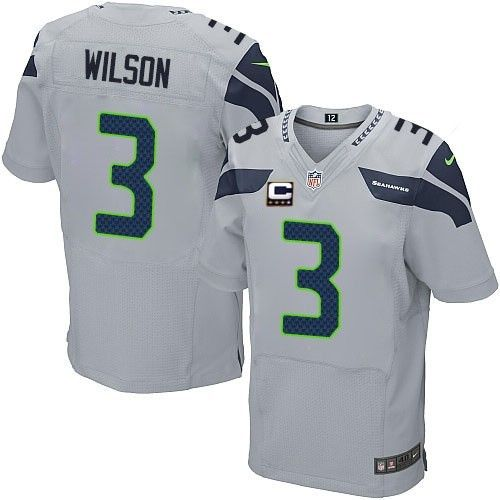 ... Super Bowl XLVIII Mens Stitched NFL Game Jersey Get Official Mens Nike  Seattle Seahawks 3 Russell Wilson Elite Grey Alternate C Patch NFL Jersey  ... a8c8975f3
