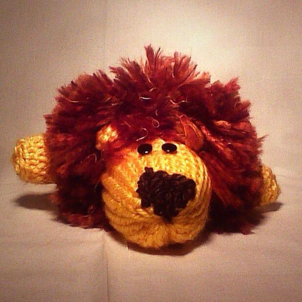 Knit/crocheted lion #crocheted #knit #handmade #lion #toy ...