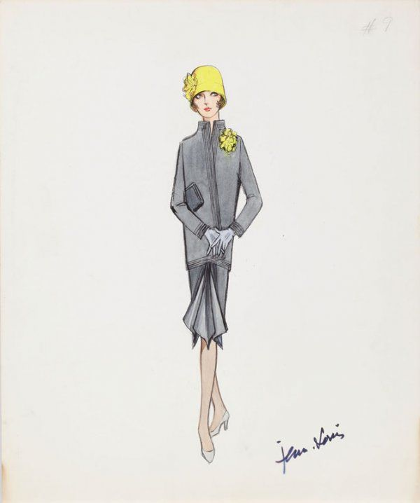 Jean Louis costume sketch for Julie Andrews