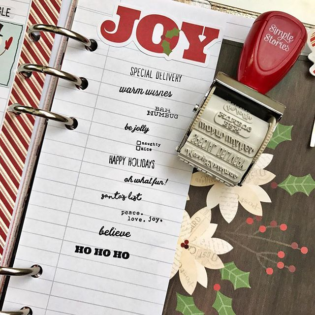 Oh what fun! Our Classic Christmas roller stamp adds the perfect little finishing touch to your scrapbook pages, planners & even your Christmas card envelopes!  #ssclassicchristmas