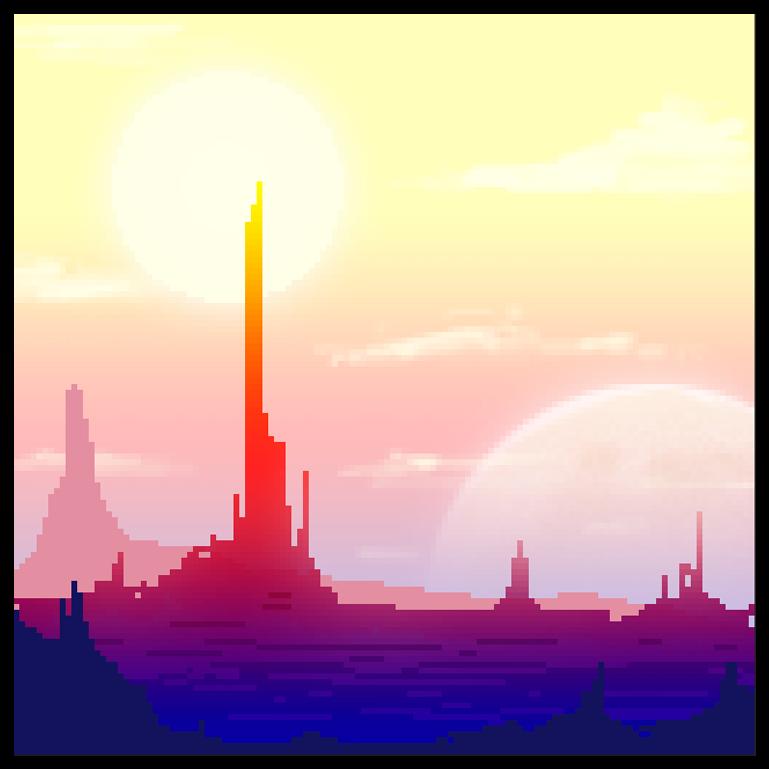 Ricky Westwood: Pixel Art: Scifi Landscape у 2019 р