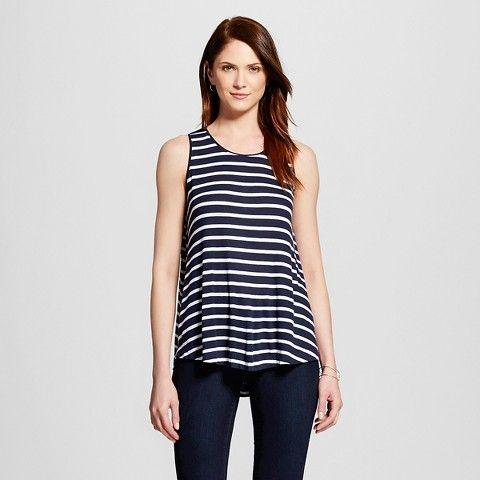Women's Striped Ribbed Swing Tank - Merona™