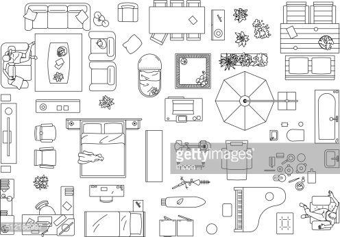 floor plan furniture vector. Floor Plan Furniture Vector Art . T