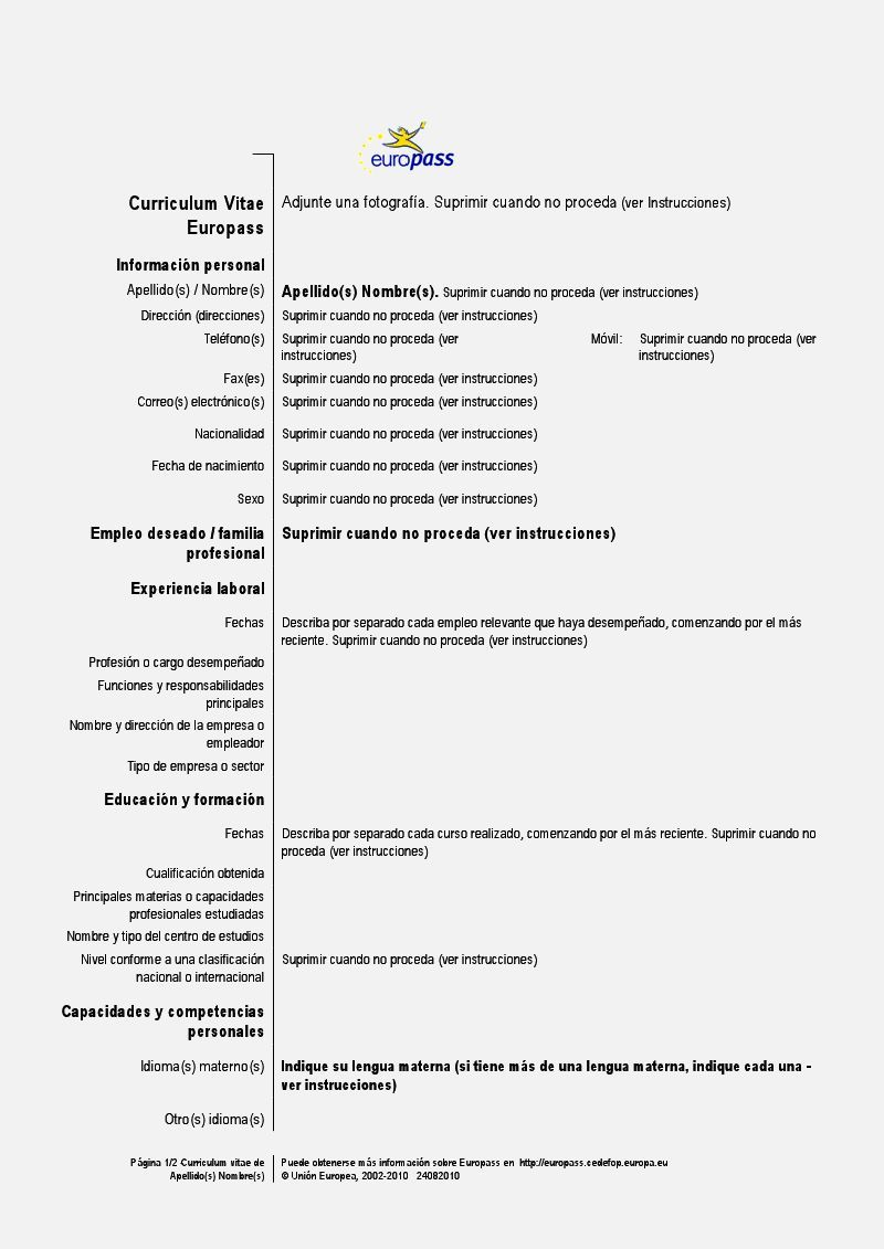 Ejemplos De Resume En Espanol Resume Template Cover Letter