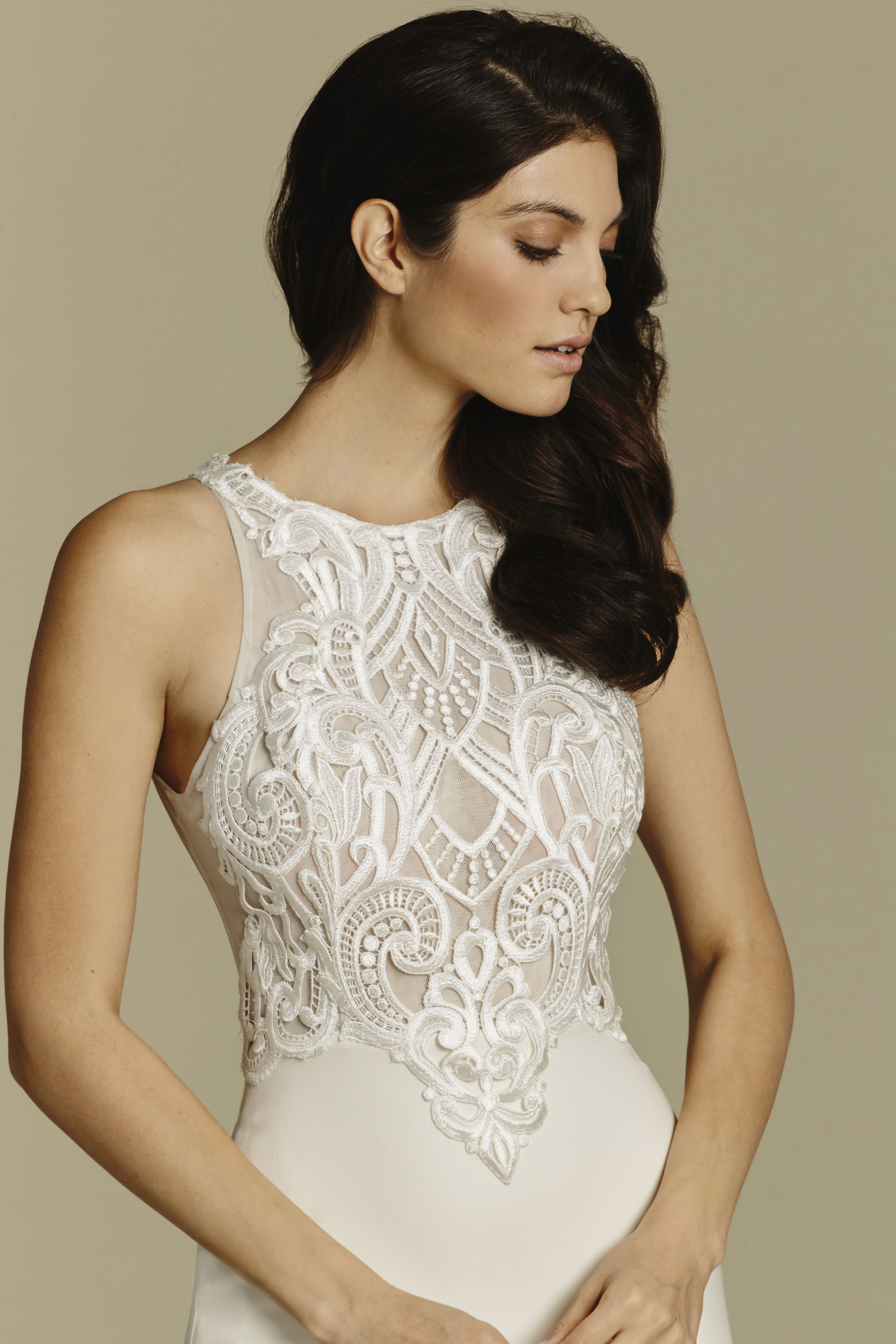 Bridal gowns wedding dresses by tara keely style ivory crepe