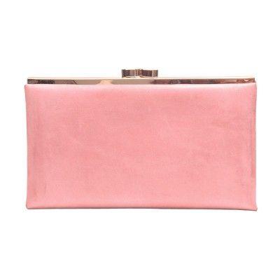 Leather Clutch Wallet - Dusty Pink - $83.00