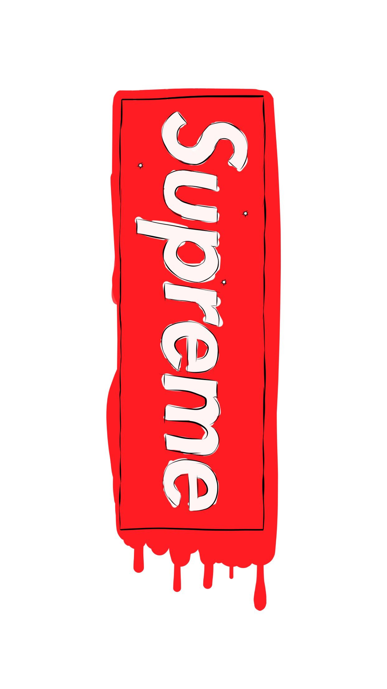 White Supreme Box Logo Wallpaper