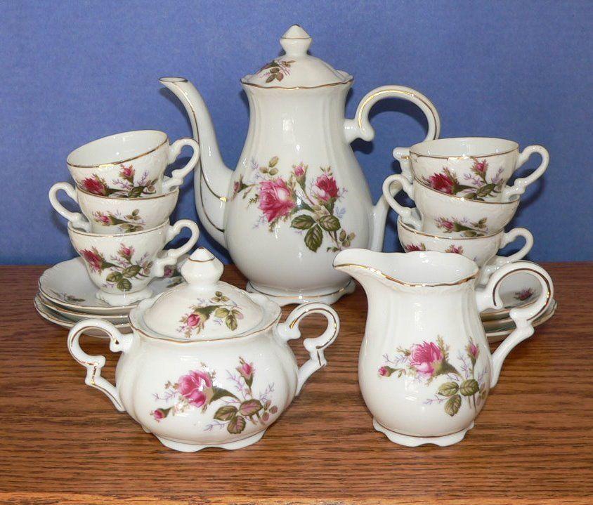 Vintage Royal Sealy China Moss Rose Pattern Demitasse