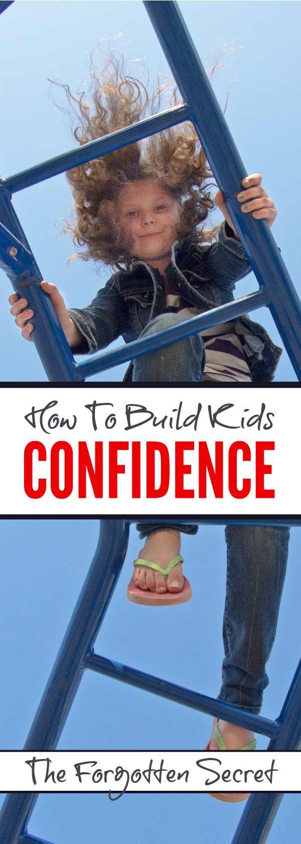 Building kids confidence - the forgotten secret #parenting #confidence