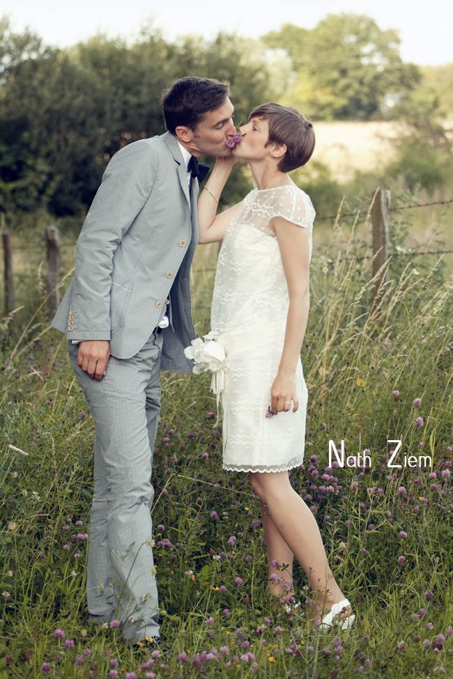 ©Nath Ziem #Short hair bride #mariee aux cheveux courts