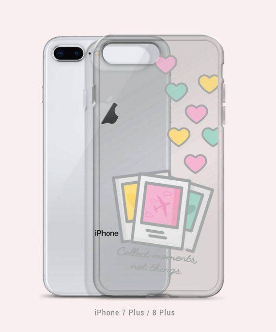 brand new 3d9df bd7b1 Pastel Polaroid Photos Traveler Cute Heart Clear Iphone Samsung ...