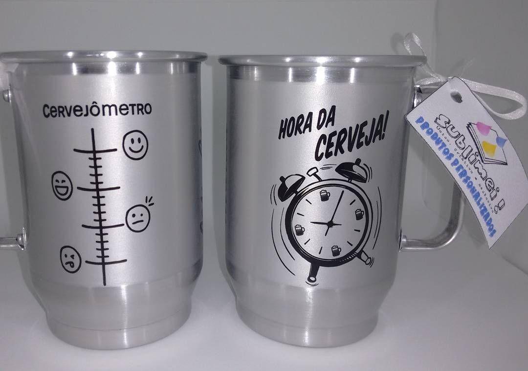 81df366cde Caneca de alumínio personalizada!! Essa de 600 ml, pra curtir um chopp ou a  cerveja bem gelada!!! Peça já a sua!!! Essa exclusiva já vem…